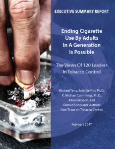 ENDING CIGARETTE USE BY ADULTS IN A GENERATION IS POSSIBLE